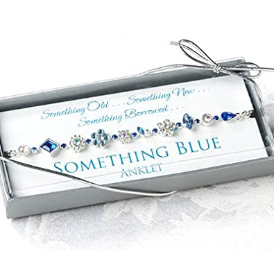 Amazoncom Something Blue Bridal Anklet Garters Wedding Jewelry