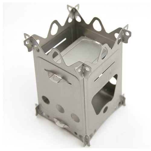 Emberlit Fireant Stainless Steel Stove- Lightweight, Multi-fuel, Packs Flat for Hiking,hunting, Survival Packs, and Camping