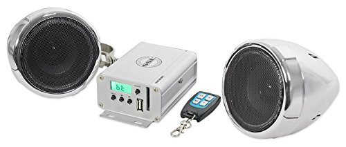 Multifunction Speaker System - Sound Storm SMC80BC Sound System, Weatherproof, Bluetooth Amplifier, 3 Inch Speakers, Multi-Function Remote, Ideal for Motorcycles/ATV and 12 Volt Applications