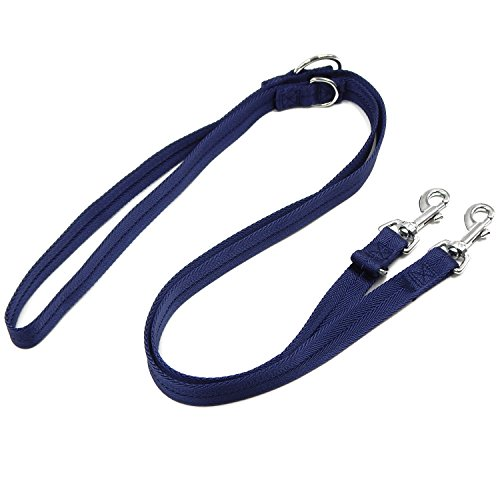 5' Small Bowl (Multifunction Dog Leash, Hands Free Dog Leash, 6 Way in One Leash Adjustable 3 ft to 6 ft, Double Ended Dog Lead)