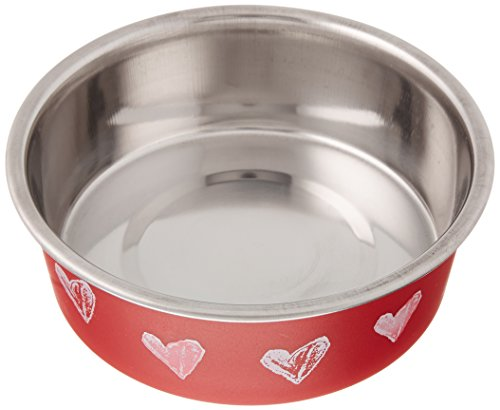 Bowl Bowl Dog Bella (Loving Pets Products 7761 Bella Designer Food Bowls, Valentine Red, X-Small)