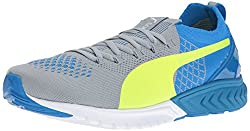 PUMA Men's Ignite Dual Proknit Running Shoe, Quarry/Electric Blue, 7 M US