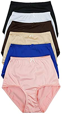 ToBeInStyle Women's Highwaisted Ribbon Accent Full Girdle Panties