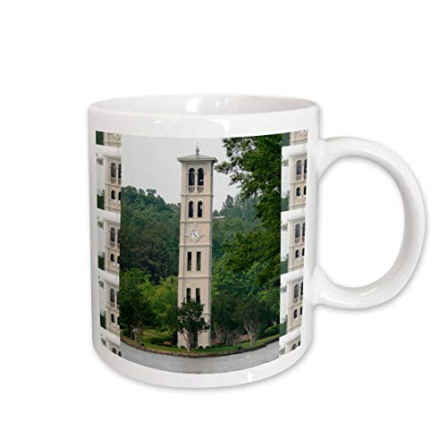 (3dRose mug_61719_1 Bell Tower At Furman University, Greenville Ceramic Mug, 11-Ounce)