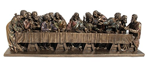 VERONESE The Last Supper Jesus Twelve Apostles Statue Figurine Cold Cast Bronze 28.5 inch