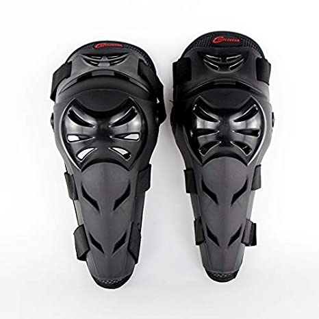 XuBa - Juego de 2 Rodilleras Unisex para Motocicleta, para Montar al Aire Libre, Ciclismo, Scooter, monopatín, Bicicleta, Patinaje en línea
