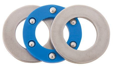 1/4 Nom I.D., 9/16 Nom. O.D., .0938 Ball, .190 to .196 Thk., Nylon Ball Retainer Thrust Bearings, Steel (1 Each)