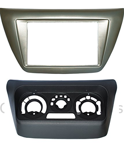 Complete Install Double Din Dash Trim Frame Kit Fitted For Mitsubishi Lancer 2002-2007 Double Din Adaptors
