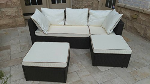 JJ International, Inc F9108 Milano Sectional Deep Seating (Milano Sectional)