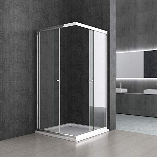 Sogood: Cabina de ducha de esquina Rav16K 70x75x190 Mampara de vidrio de seguridad templado de 6mm transparente, puerta corredera: Amazon.es: Bricolaje y herramientas
