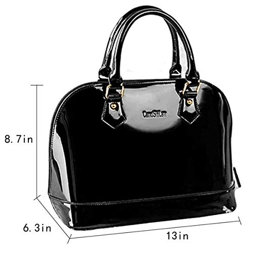 Boutique Bag Handbag Top Goodbag Bag Bags Leather Handbag Tote Handle Shell Satchel Jelly Lady Black Shoulder Patent dqwgRA
