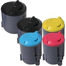 1 Pack + 1 Black of Total 5 Inktoneram® Replacement toner cartridges for Samsung CLP-300 Toner Cartridges CLP-K300B CLP-C300B CLP-M300B CLP-Y300B replacement for Samsung CLP300 Combo Set CLX-2160N CLX-3160N CLP-300 CLP-300N