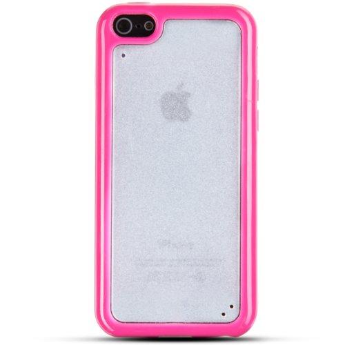 Zooky® rosa Hartplastik zweifarbige Schutzhülle / Hülle / Cover für Apple iPhone 5C