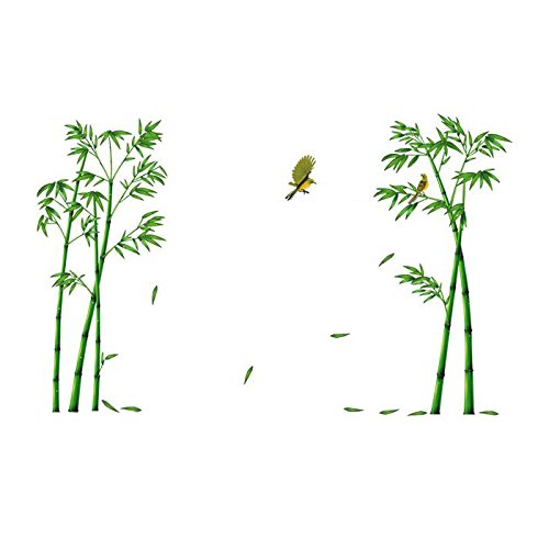 Chinese Wind Bamboo Forest Depths Wall Stickers - TOOGOO(R)Chinese Wind Stick Bamboo Forest Depths Wall Stickers TV Setting Wall Room Sitting Room Sofa Decorate Wall Stickers