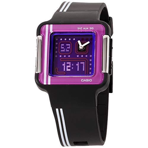 Casio Poptone Blue Dial Plastic Strap Unisex Watch LCF211DR