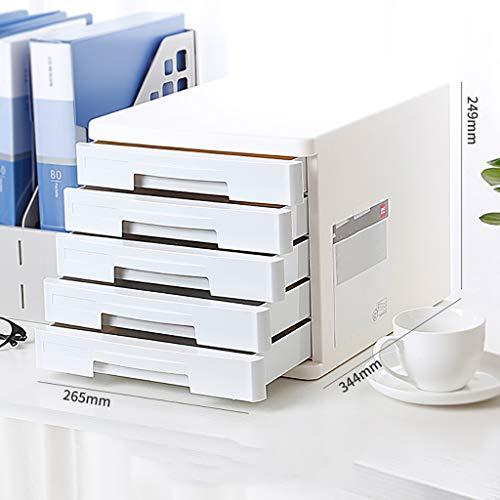 FPigSHS Archivadores de Almacenamiento Caja de Muebles de Oficina Gabinete de Archivo 5 cajones Escritorio de Alta Capacidad...
