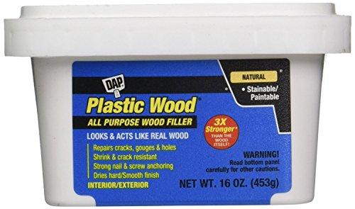 Dap 00529 6 Pack 16 oz. Plastic Wood Latex All-Purpose Wood Filler, Natural by DAP