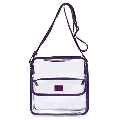 (Cowgirl Trendy Medium Clear Shoulder Messenger Bag - NFL Stadium Approved Crossbody - Multiple Pockets - Adjustable Shoulder)