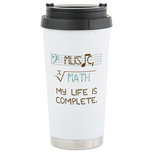 CafePress - Math And Music - Stainless Steel Travel Mug, Ins