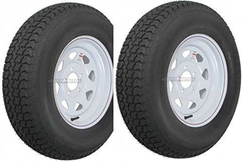 2-Pack-Trailer-Wheel-Tire-420-ST20575D15-20575-D-15-LRC-5-Hole-White-Spoke