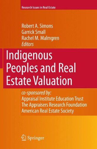 Indigenous Peoples and Real Estate Valuation (Research Issues in Real Estate)