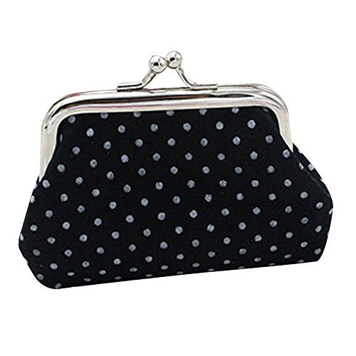 Purse For Women,Wallet Card Wallet/Coin Purse with Key Ring Handbag Ladies bags Duseedik Clearance (Black)
