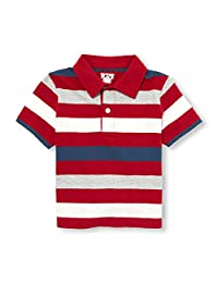 The Children's Place Baby-Boys Baby Boys Short Sleeve Striped Polo