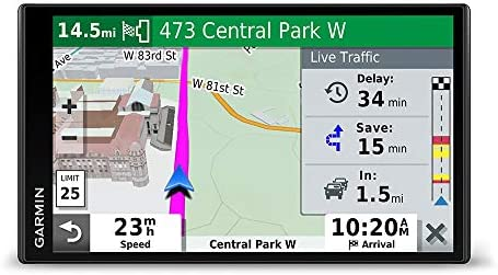 Garmin DriveSmart 65 Traffic GPS navigator with a 6.95 display, hands-free calling, included traffic alerts and information to enrich road trips