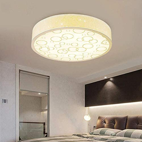 DJDD Led ceiling lamp bedroom round simple modern remote control ceiling lamps warm simple modern lamps 4DD08