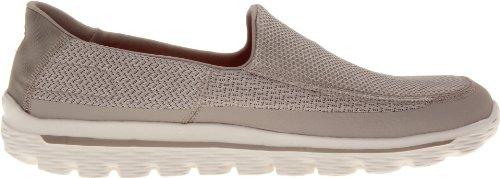 Skechers Sneaker für Herren Go Walk 2 53590, weiß - stone - Größe: M/45,5 EU