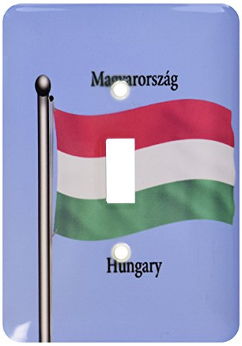 3dRose LLC LSP 63162_ 1de la bandera de Hungría saludando en un fondo azul y Hungría escrito en inglés y en húngaro...