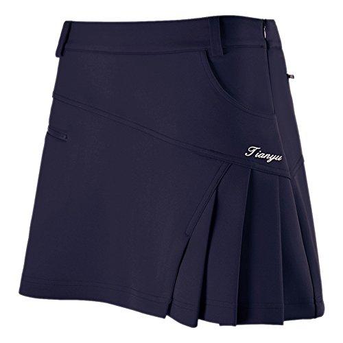 Ciguo Women's Golf Skort Pleated Skirt with Shorts Workout Skort Tennis Skort (Blue, Waist 29 inch) by Ciguo