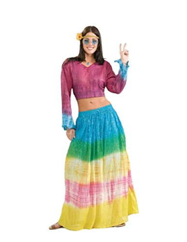 [Forum Novelties Women's Generation Hippie Tye Dye Costume Skirt, Multi, One Size] (San Francisco Adult Hippie Costumes)
