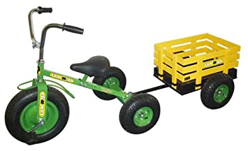 Tow N Go >> Tow N Go Childrens Trike Tricycle With Trailer Green Amazon Co