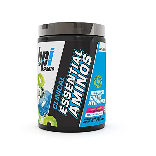 BPI Sports Clinical Essential Aminos - Keto Friendly - Essential Amino Acids (EAAs) - Recovery, Muscle Growth, Hydration - Sour Candy - 30 Servings - 11.11 oz