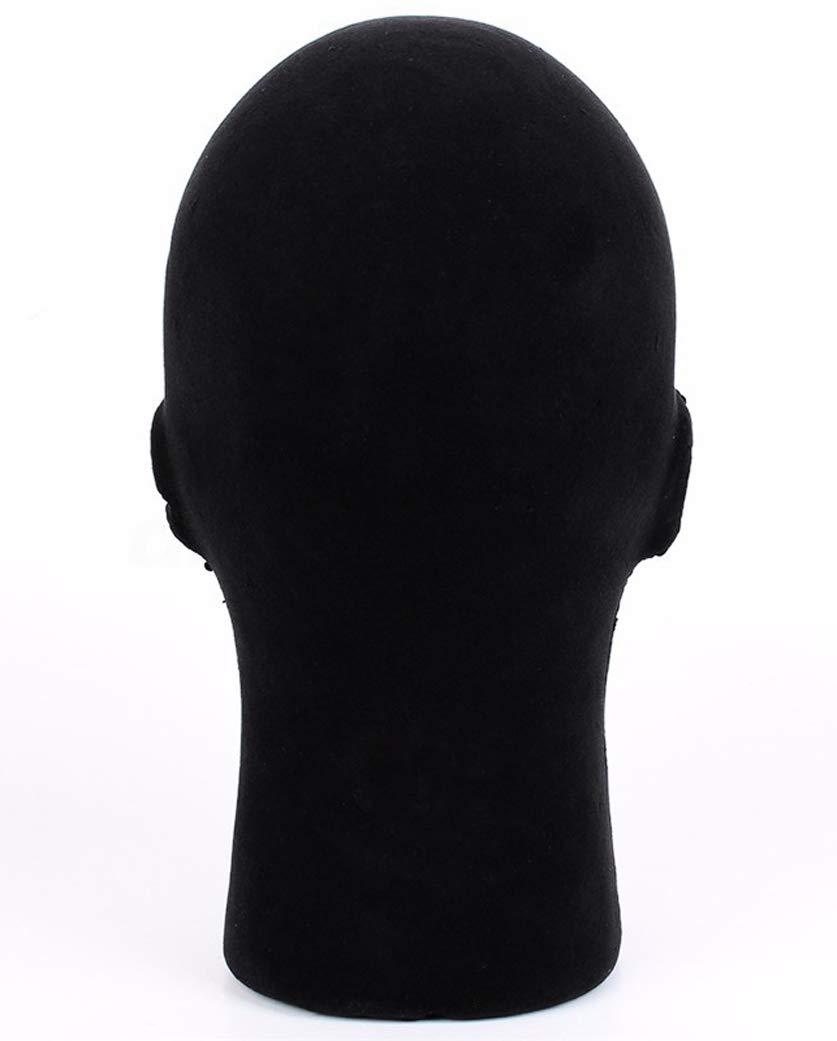 1 Pcs Female Styrofoam Mannequin Manikin Head Model Foam Wigs Hats Hairpieces Style Model Display (Black) by do.Cross (Image #3)