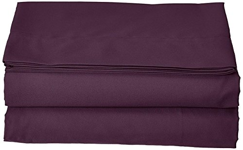 Lavish Linens Hotel Quality Soft and 100% Cotton 4 Piece Solid Purple, Super Single - 15 Inch Deep Pocket Un-Attached Waterbed Sheet Set - 600 Thread ()