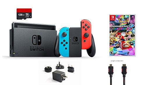 Nintendo Switch 5 items Bundle:Nintendo Switch 32GB Conso...
