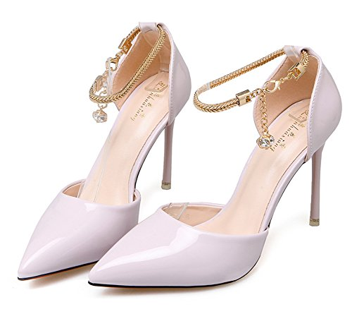 Pointy Ankle Women's D Purple orsay Pumps Aisun Toe Shoes Court Chic Light Strap nxfRW646Y