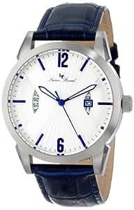 Lucien Piccard Men's LP-11561-02S Watzmann White Dial Blue Leather Watch