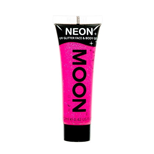 Moon Glow - Neon UV Glitter Face & Body Gel - 0.42oz Hot Pink – Glitter Face Paint (Face Pink Paint)