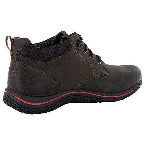 Rockport XCS Men Chukka Shoe, Bark/Cherry 13