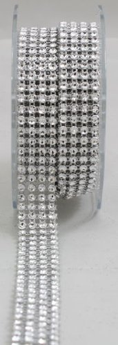 Arts Craft 4 Lines Diamond Ribbon, 3mm, Silver