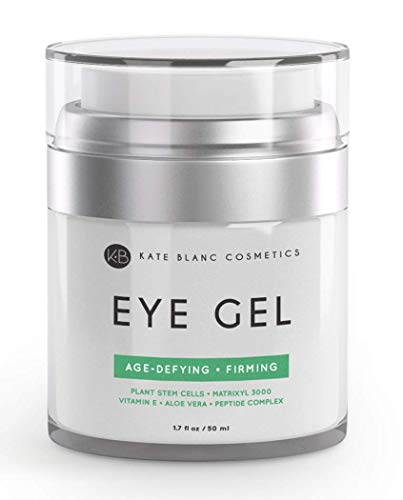 Eye Gel for Dark Circles by Kate Blanc. Reduce Appearance of Puffiness, Wrinkles, Crow's Feet and Bags. Effective Age-Defying & Anti-Aging Serum and Cream for Under and Around Eyes. 1-Year Guaranteed.