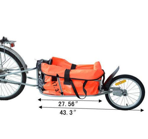 Steel Bicycle Bike Cargo luggage Trailer One Wheel Cart Carrier For Shopping by Unknown (Image #1)