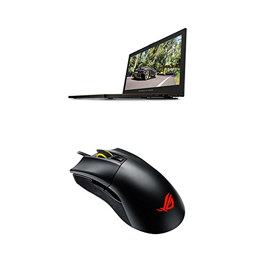 ASUS ROG Zephyrus GX501 15.6' Full-HD 120Hz Ultra-portable Gaming Laptop and ASUS ROG Gladius II Origin Wired USB Optical Ergonomic FPS Gaming Mouse