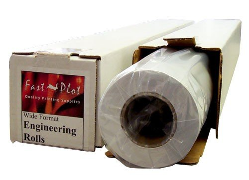47 lb. Premium Coated Bond Plotter Paper 36'' x 100' 2'' Core - 1 Roll by FastPlot