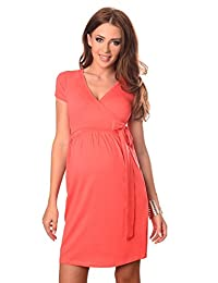Purpless Maternity Cocktail V Neck Pregnancy Dress with Belt 5416