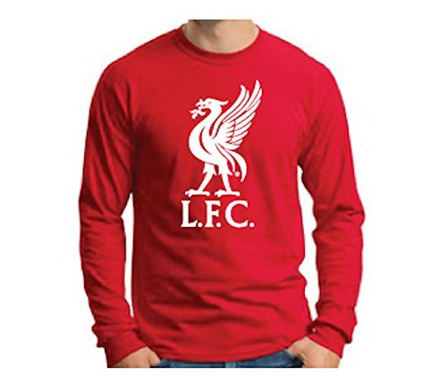 Anfield Shop Liverpool FC Liverbird Red Long-Sleeve T-Shirt (Medium)