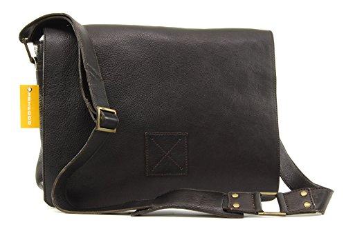 Umhängetasche / für Laptop geeignete Tasche Pedro von Ashwood - GRÖßE: B: 39 H: 28 T: 10 cm Dunkelbraun hPjzq